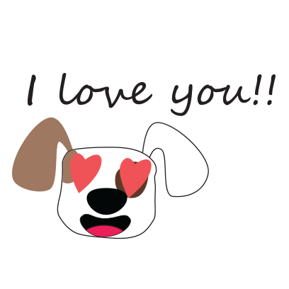 Puppy face emojis messages sticker-5