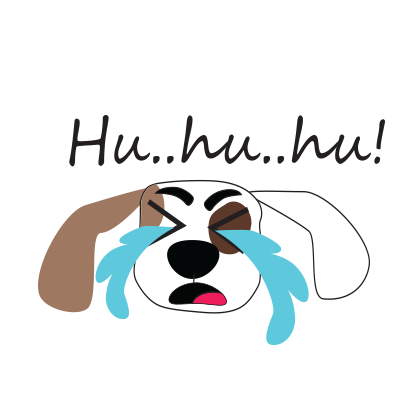 Puppy face emojis messages sticker-4