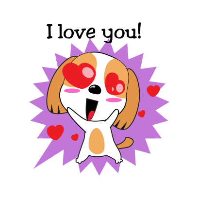 Beagle dog emoji & stickers messages sticker-7