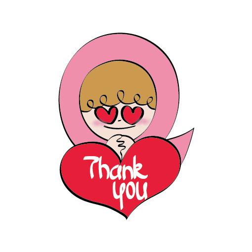 Pink Ribbon iSticker Pinky messages sticker-2
