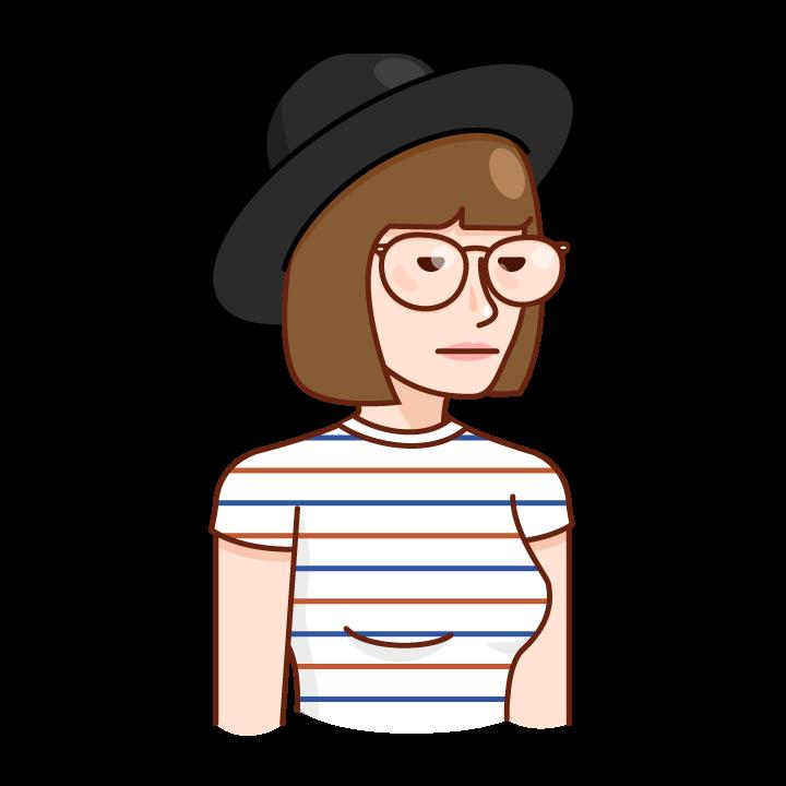 Trendy Hipster messages sticker-3