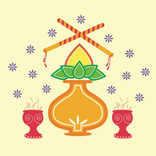 Durga Sharodiya messages sticker-3