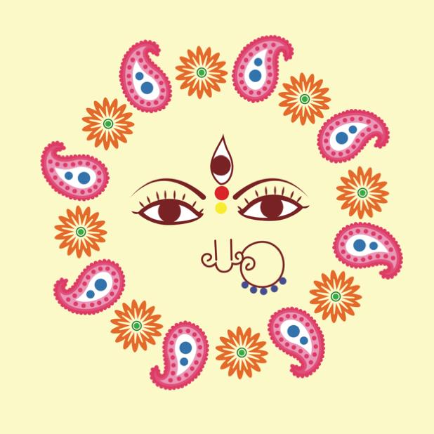 Durga Sharodiya messages sticker-9