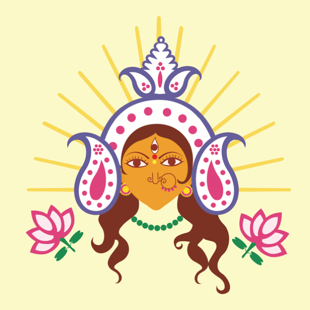 Durga Sharodiya messages sticker-7