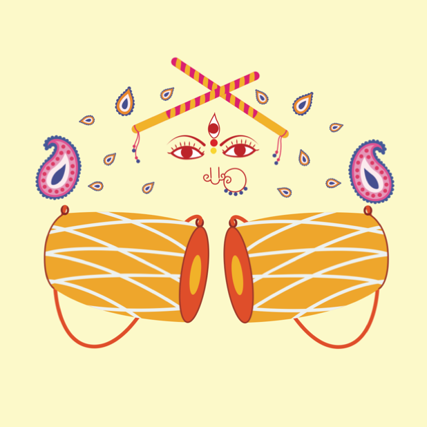 Durga Sharodiya messages sticker-11