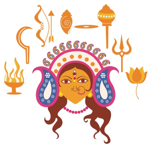 Durga Sharodiya messages sticker-6