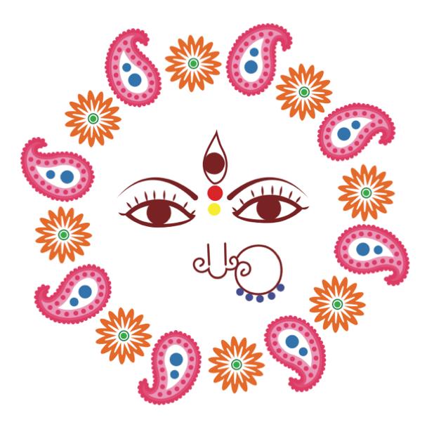 Durga Sharodiya messages sticker-10