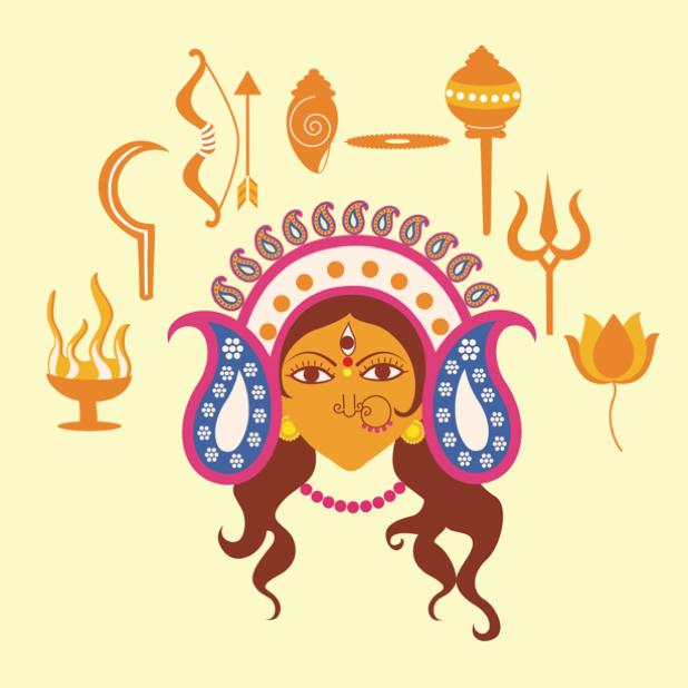 Durga Sharodiya messages sticker-5