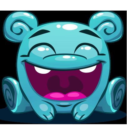 Herbie The Blue Alien messages sticker-2