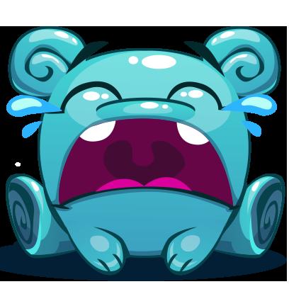 Herbie The Blue Alien messages sticker-4