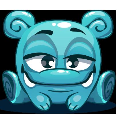 Herbie The Blue Alien messages sticker-8