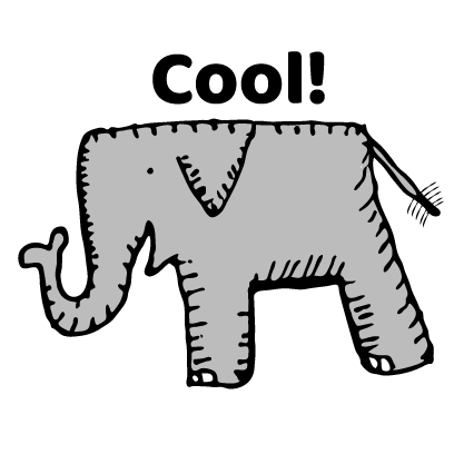 Happy Elephant Stickers messages sticker-1