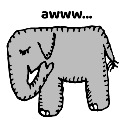 Happy Elephant Stickers messages sticker-0