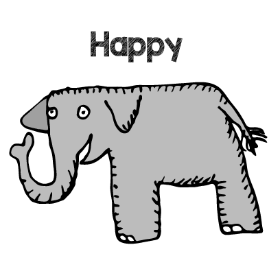 Happy Elephant Stickers messages sticker-7