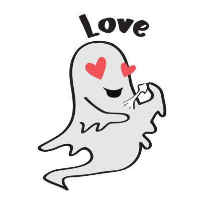 Cute ghost emojis & stickers messages sticker-10