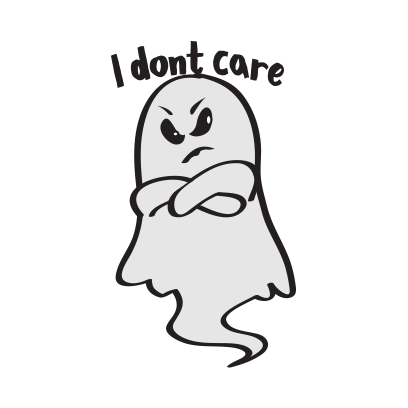 Cute ghost emojis & stickers messages sticker-2