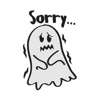 Cute ghost emojis & stickers messages sticker-1