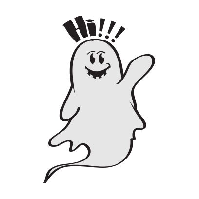Cute ghost emojis & stickers messages sticker-0
