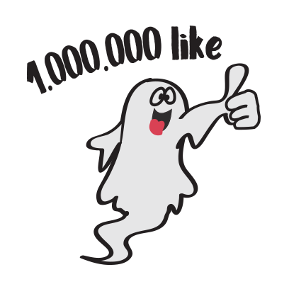 Cute ghost emojis & stickers messages sticker-6
