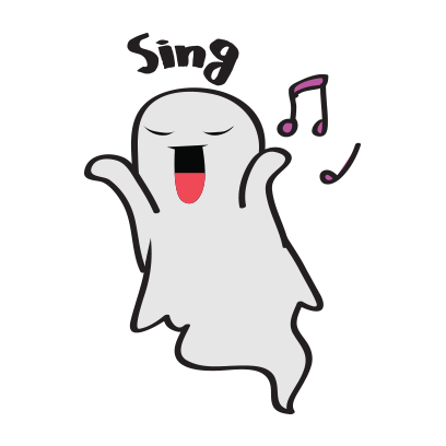 Cute ghost emojis & stickers messages sticker-8