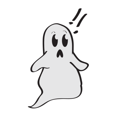 Cute ghost emojis & stickers messages sticker-4
