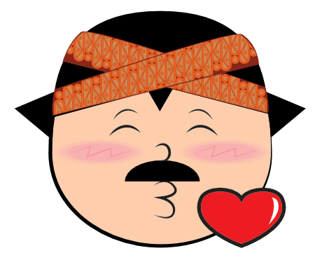 Funny Man Cartoon Face messages sticker-9