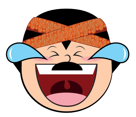 Funny Man Cartoon Face messages sticker-4