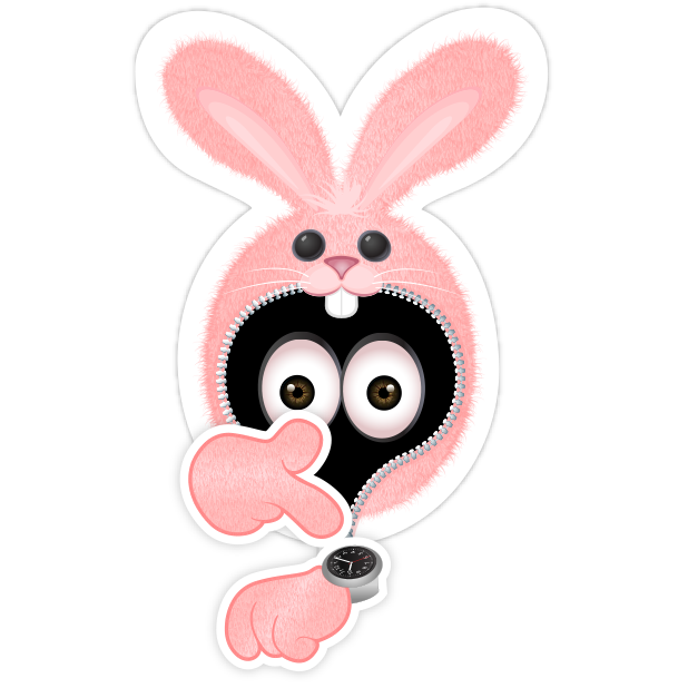 Pink Bun•e messages sticker-10