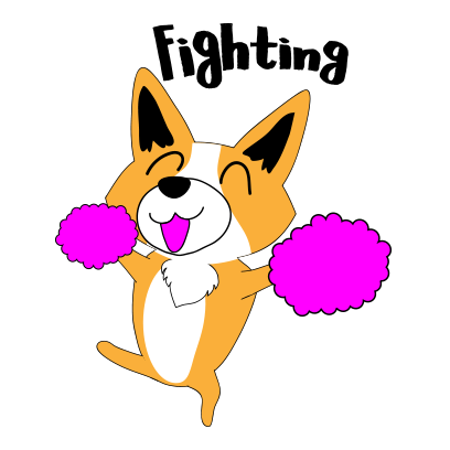 Corgi dog lovely sticker messages sticker-7