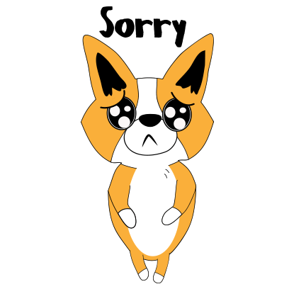 Corgi dog lovely sticker messages sticker-2