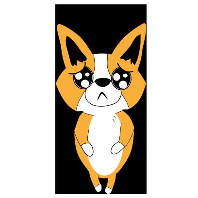 Corgi dog lovely sticker messages sticker-2