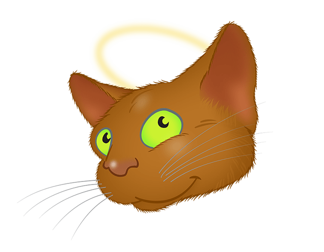 Brown Cat emoji messages sticker-9
