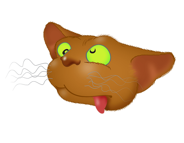 Brown Cat emoji messages sticker-5