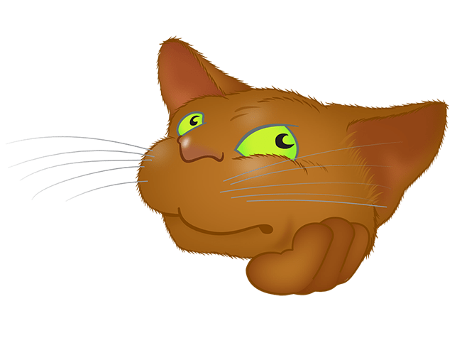 Brown Cat emoji messages sticker-11
