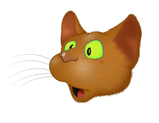 Brown Cat emoji messages sticker-3