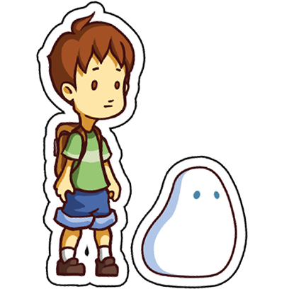 A Boy and his Blob Stickers messages sticker-0