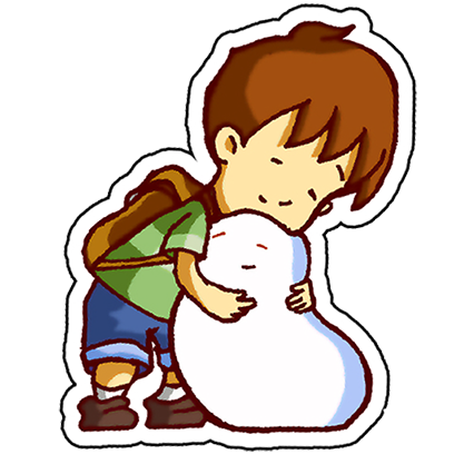 A Boy and his Blob Stickers messages sticker-1