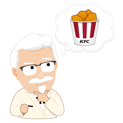 KFC Stickers messages sticker-4