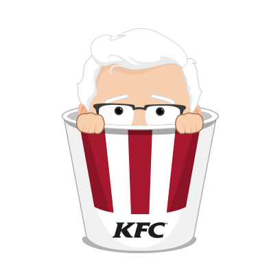KFC Stickers messages sticker-1