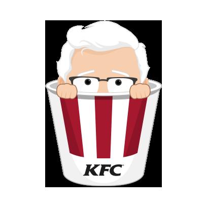 KFC Stickers messages sticker-1