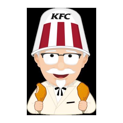 KFC Stickers messages sticker-2