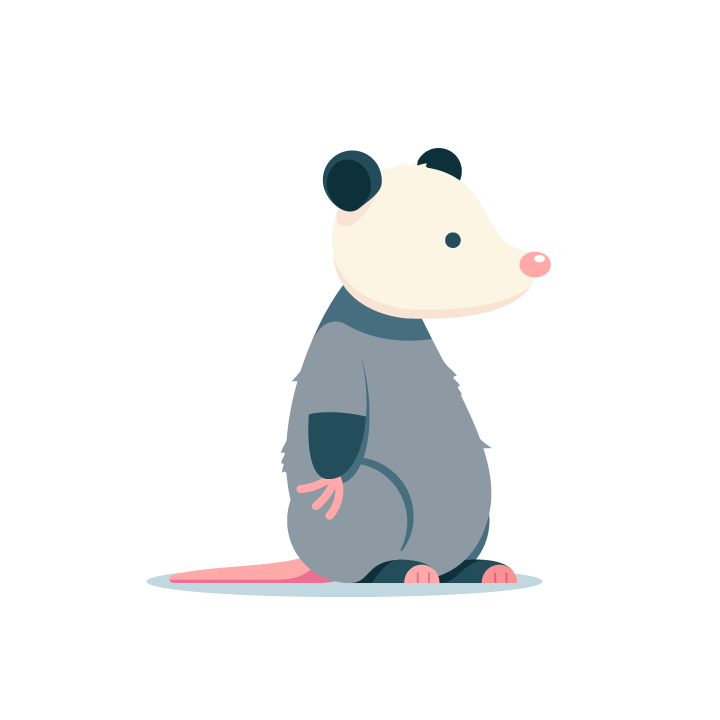 Awesome Possum messages sticker-1