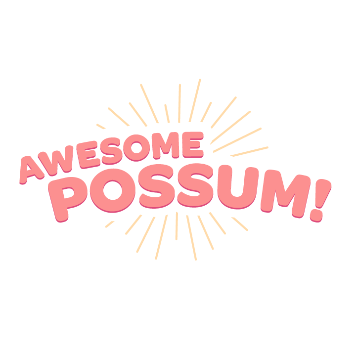 Awesome Possum messages sticker-0