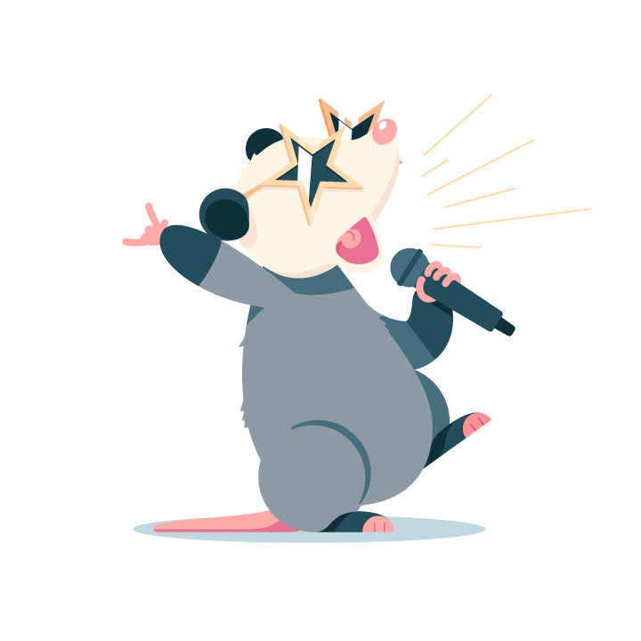 Awesome Possum messages sticker-5