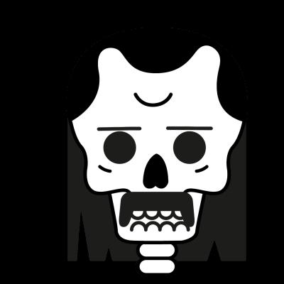 Mr Bones messages sticker-0