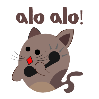 Chocolate cat emoji & sticker messages sticker-7