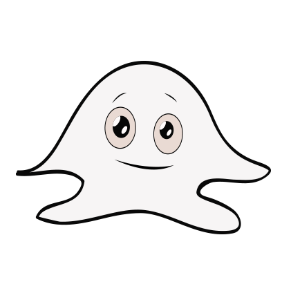 Ghost emoji and sticker messages sticker-6