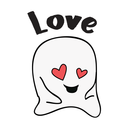 Ghost emoji and sticker messages sticker-5
