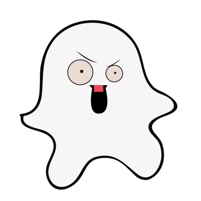 Ghost emoji and sticker messages sticker-7