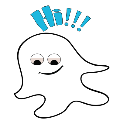 Ghost emoji and sticker messages sticker-8